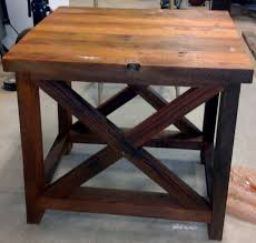 Free Simple End Table Plans by Furniture Small End Table Plans Free 74 Rustic X End Table Diy