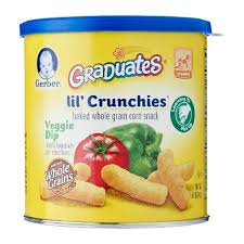 graduates snacks gerber graduates lil crunchies veggie dip snacks 42g from redmart
