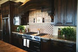 Dark Kitchen Cabinets With Backsplash Custom Cabinets Alluring White Custom Design Brown Laminated