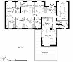 plan de maison plain pied 4 chambres avec garage chambre plan de maison plain pied 4 chambres avec garage fresh
