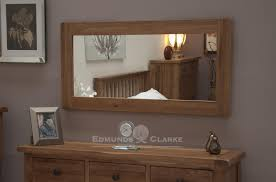 oak large wall mirror kitchen and dining room mirrors pine
