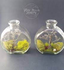handmade wire wrapped tree in a bottle terrarium by