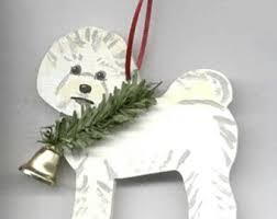 bichon frise decor etsy