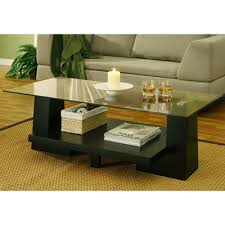 Rectangular Coffee Table With Glass Top At Meijer Felicia Rectangular Glass Top Coffee Table With Black