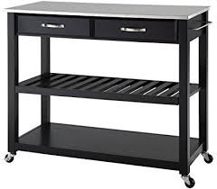 crosley kitchen island amazon com crosley furniture portable kitchen cart with stainless