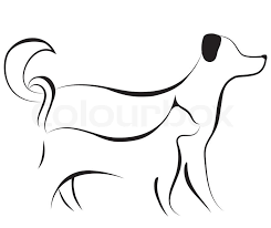 cat and dog friend logo sketch vector illustration stock vector