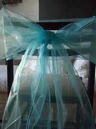 teal chair sashes aqua blue organza chair sashes 8 wide pack of