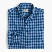 secret wash shirt in blue gingham men u0027s shirts j crew