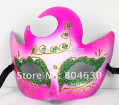 pink mardi gras mask new arrive party mask masquerade prop carnival