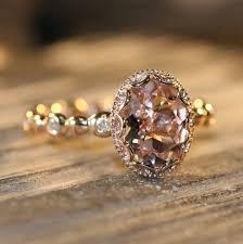 morganite engagement ring gold gold morganite and diamond ring urlifein pixels