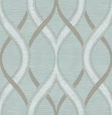 Herringbone Line Wallpaper Beige Peel by