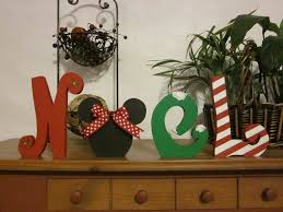 christmas decoration wood letters noel disney christmas gift
