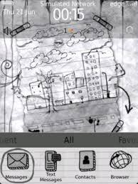 pencil sketch up doodle theme blackberry world
