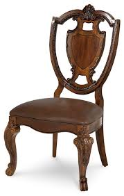 Victorian Dining Chairs A R T Furniture Old World Shield Back Side Chairs With Leather