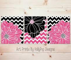 pink black wall art tween bedroom wall decor teen girls