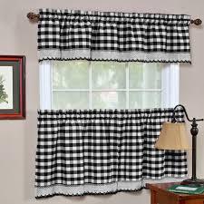 buffalo check window curtain