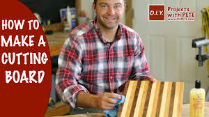 how to make a cutting board diy butcher block cutting board