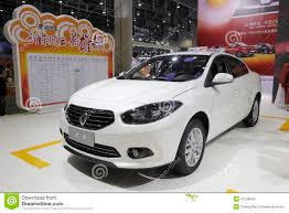 white renault fluence car editorial stock photo image 42136843