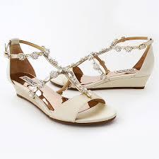 wedding shoes wedges badgley mischka wedding shoes terry low heel wedge