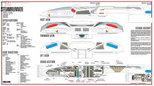 Star Trek Enterprise Floor Plans by Star Trek Blueprints Steamrunner Class Starship Prototype Nx 52000