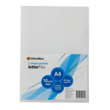 officemax l shaped pockets a4 assorted colours pack of 10