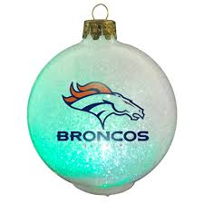 denver broncos nfl led color changing ornament