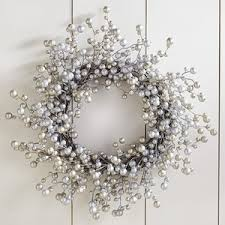 pier 1 imports glitter berry wreath silver polyvore