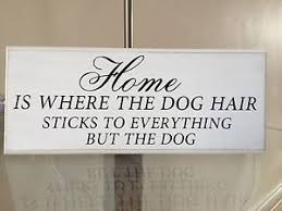 home is where the dog hair funny quote shabby chic plaque sign 10