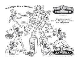 free printable power rangers samurai coloring