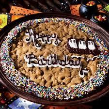 birthday cookie cake mrs fields happy birthday ghost cookie cake