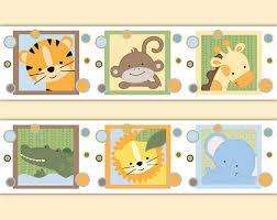 safari nursery decor decal wallpaper border jungle animal stickers