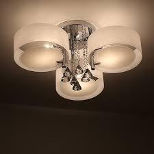 Wohnzimmer Decken Lampen Natsen Led Kristall Deckenleuchte Deckenlampe Designer Wohnzimmer