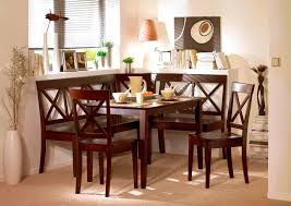 dining room black wooden corner breakfast nook set for elegant walnut wood corner breakfast nook set for home furniture ideas