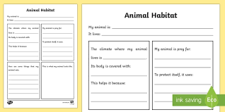 coloring pages of animals in their habitats ks2 science habitats resources environments page 1