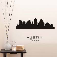 Home Decor Austin Tx Large Black Muursticker Font B Austin B Font Texas Wall Sticker City Silhouette Adhesive Living Room Jpg