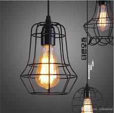 vintage warehouse lighting fixtures loft led industrial pendant lighting chandelier balck iron cage