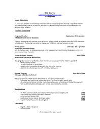 Example College Resumes by Soccer Resume For College