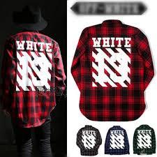 pyrex clothing white c o virgil abloh pyrex vision plaid flannel sleeve