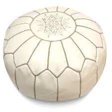Leather Moroccan Ottoman by Ikram Design Round Moroccan Leather Pouf Hayneedle