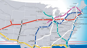 Dc Train Map A Beautiful Vision Of An American High Speed Rail Map The Future