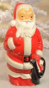 outdoor plastic lighted santa claus vintage 1950 s noma christmas santa claus blow mold light reverse