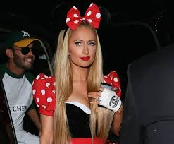 Halloween Costumes Minnie Mouse Paris Hilton Flaunts Cleavage Minnie Mouse Costume Red