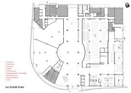 Floor Plan Of The Office Gallery Of Baiyunting Culture And Art Center Dushe Architectural