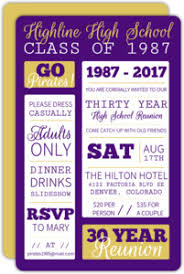 50th high school class reunion invitation high school college class reunion invitations