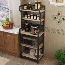kitchen pantry storage cabinet microwave oven stand with storage kitchen racks floor mounted multi layer storage rack