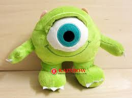 quality monsters mike wazowski mini bean stuffed plush