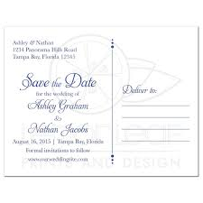 save the date postcard save the date postcard sunflower royal blue damask