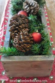 Rustic Christmas Centerpieces - rustic christmas centerpiece meatloaf and melodrama
