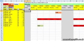 2012 staff holiday planning spreadsheet