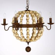 Antique Wood Chandelier Antique Finish Wood 3 Lights Cage Chandelier At Lightingbox Com Canada